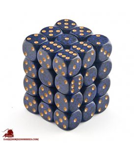 Chessex: Speckled 12mm d6 Golden Cobalt dice set (36)