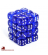 Chessex Dice: Translucent 12mm d6 Blue/White dice set (36)