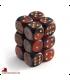 Chessex: Gemini 16mm d6 Black Red/Gold dice set (12)