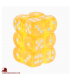 Chessex Dice: Translucent 16mm d6 Yellow/White dice set (12)