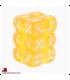 Chessex Dice: Translucent 16mm d6 Yellow/White dice set (12)