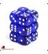 Chessex Dice: Translucent 16mm d6 Blue/White dice set (12)