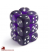 Chessex Dice: Translucent 16mm d6 Purple/White dice set (12)