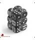 Chessex Dice: Translucent 16mm d6 Smoke/White dice set (12)