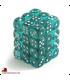 Chessex Dice: Translucent 12mm d6 Teal/White dice set (36)