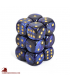 Chessex: Scarab 16mm d6 Royal Blue/Gold dice set (12)