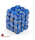 Chessex: Vortex 12mm d6 Blue/Gold dice set (36)