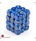 Chessex: Vortex 12mm d6 Blue/Gold dice set (36)