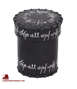 Elven Leather Dice Cup Black