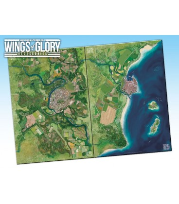 Wings of Glory: Game Mat - Countryside (WGA502B and WGA502C together)