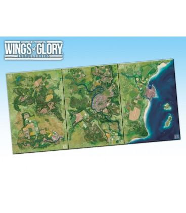 Wings of Glory: Game Mat - Countryside (WGA502A, WGA502B and WGA502C together)