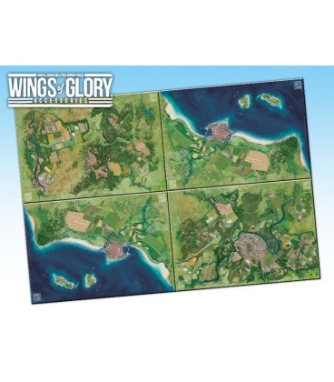 Wings of Glory: Game Mat - Countryside (four maps together)
