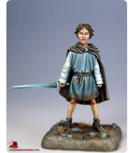 "Game of Thrones: Arya Stark ""On the Run"" (painted by Marike Reimer)"