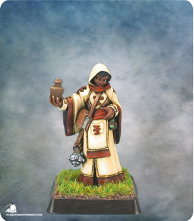 Warlord: Mercenaries - Olivia, Cleric/Priestess (painted by Anne Foerster)