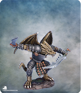Visions in Fantasy: Draconid Warrior (Painted by Matt Verzani)