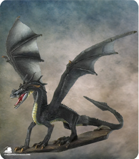Visions in Fantasy: Black Dragon (painted by Dirk Stiller)