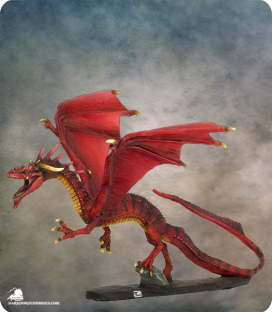 Visions in Fantasy: Red Dragon (painted by Dirk Stiller)