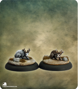 Savage Worlds: Deadlands - Jackalope Set (painted by Martin Jones)