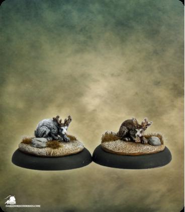 Savage Worlds: Deadlands - Jackalope Set (painted by Martin Jones)