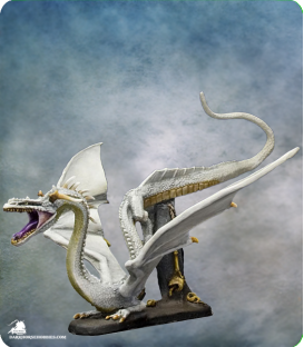 Visions in Fantasy: White Dragon (painted by Dirk Stiller)