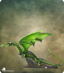 Visions in Fantasy: Green Dragon (painted by Dirk Stiller)