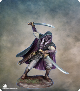 Visions in Fantasy: Male Dark Elf Warrior - Dual Wield (painted by Matt Verzani)