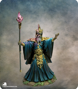 Visions in Fantasy: Evil Mage (painted by Aaron Lovejoy)