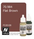 Vallejo Model Color: Flat Brown (17ml)