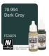 Vallejo Model Color: Dark Grey (17ml)