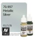 Vallejo Model Color: Metallic Silver (17ml)