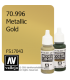 Vallejo Model Color: Metallic Gold (17ml)