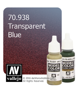 Vallejo Model Color: Transparent Blue (17ml)