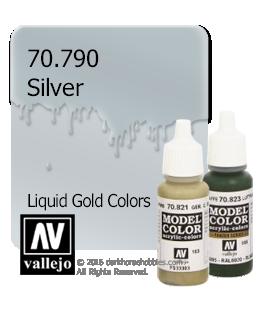 Vallejo Model Color: Liquid Gold - Silver (17ml)