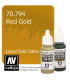 Vallejo Model Color: Liquid Gold - Red Gold (17ml)