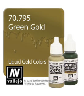 Vallejo Model Color: Liquid Gold - Green Gold (17ml)