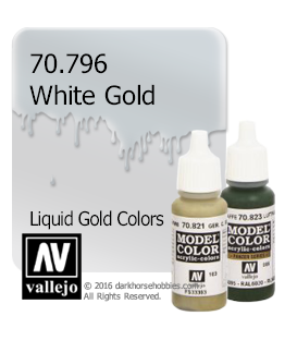 Vallejo Model Color: Liquid Gold - White Gold (17ml)