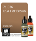 Vallejo Model Air: USA Flat Brown (17ml)