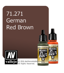 Vallejo Model Air: German Red Brown (17ml)
