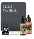 Vallejo Model Air: Tire Black (17ml)