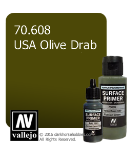 Vallejo Surface Primer: U.S. Olive Drab (17ml)