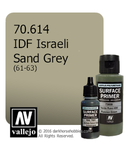 Vallejo Surface Primer: IDF Israeli Sand Grey 61-73 (17ml)