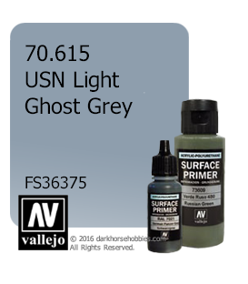 Vallejo Surface Primer: USN Light Ghost Grey (17ml)