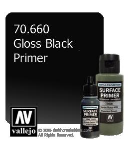 Vallejo Metal Color: Gloss Black Primer (32ml)