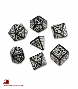 Nuke Black-Glow in the Dark 3D Polyhedral Dice Set (7)
