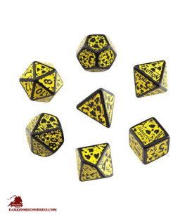 Nuke Black-Yellow 3D Polyhedral Dice Set (7)