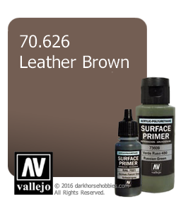 Vallejo Surface Primer: Leather Brown (17ml)