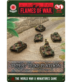 Flames of War (WWII-Pacific): Japanese Type 97 Te-Ke Platoon