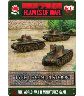 Flames of War (WWII-Pacific): Japanese Type 1 Ho-Ni Self-Propelled Gun Platoon