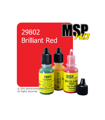 Master Series Paint: HD Colors - 29802 Brilliant Red (1/2 oz)