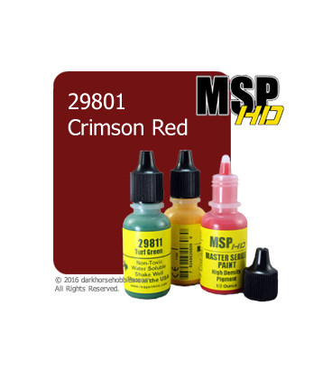 Master Series Paint: HD Colors - 29801 Crimson Red (1/2 oz)